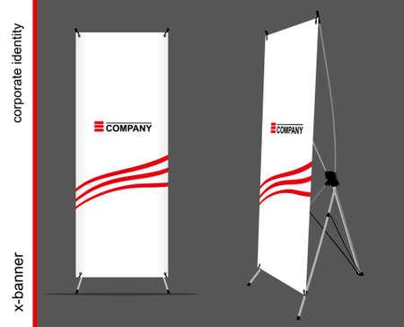 Advertising x-banner on the dark background Vettoriali