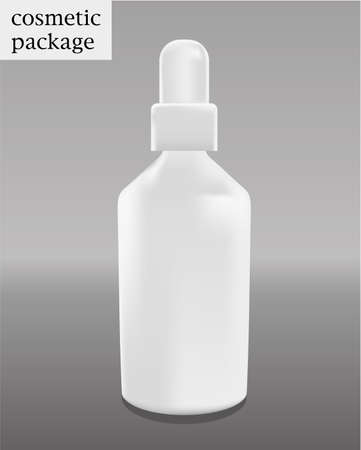 peroxide: blank cosmetic package collection - the packaging of cream  isolated on white background Illustration