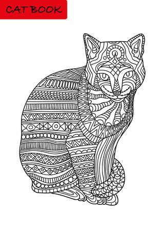 Gegenseitige Liebe Katzenkopf In Der Handflache Malbuch Seite