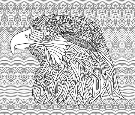 Libro De Colorante Para Adultos Y Niños - águila Brutal ...
