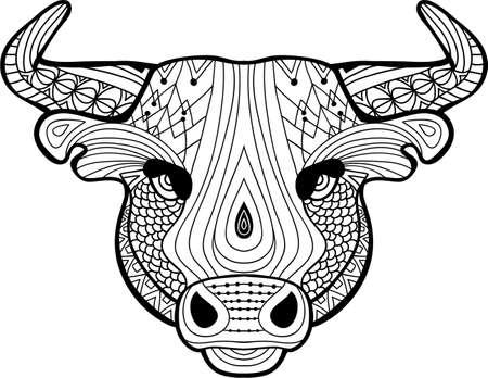 Toro Del Bisonte Y La Cabeza Del Lobo Con La Decoración Del ...
