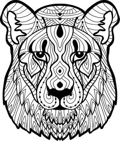 Lion Head Stylized, Illustration, Freehand Pencil, Hand Drawn ...