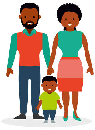 mid adult men: Family with one child, a son.