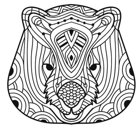 Los animales de Australia. Wombat. Libro de colorear
