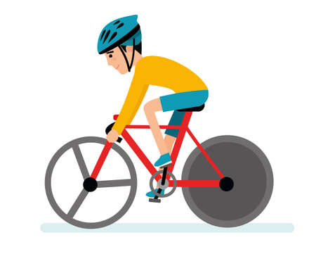 Extreme sports. Racing cyclist. Illustration