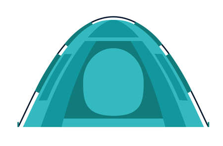 Tent Camping. equipment. Design element for poster, card. Vector illustration. Flat vector illustration Иллюстрация