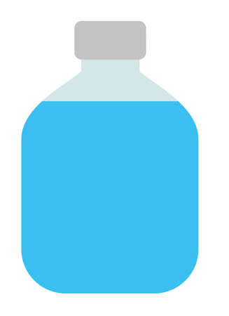 Vector isolated Travel jar with water. Design element for poster, card. Vector illustration. Flat vector illustration.
