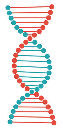 dna vector. research in laboratory. Flat cartoon illustration vector. Archivio Fotografico - 124391765