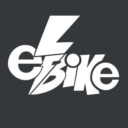Elektrische fiets, e-bike.A leuk idee voor uw logo.Well podaydet voor poster, sticker of lay-out van uw brand.Vector kunst geïsoleerd op de achtergrond.