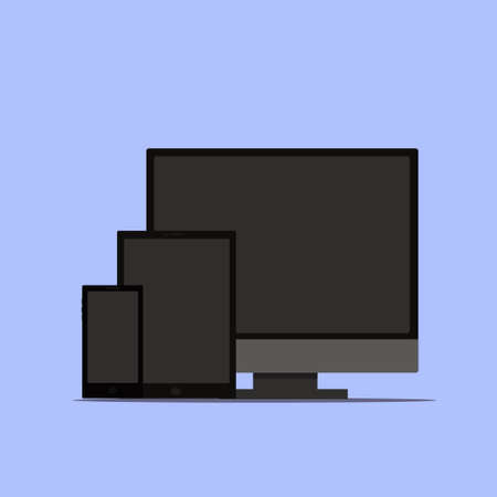 electronic devices: Ultimate web design electronic devices vector