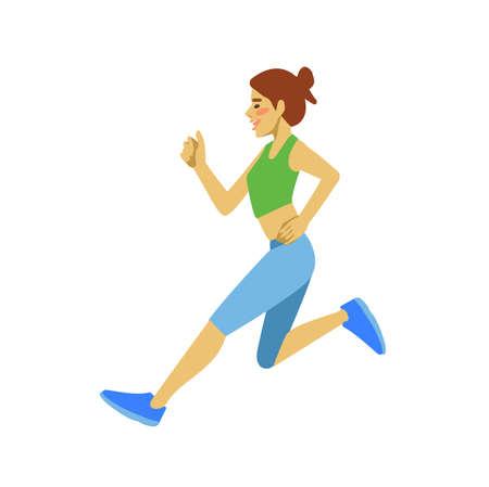 sportswoman: Slim attractive Sportswoman running. Cool vector illustration