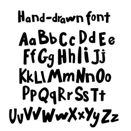 reckless: Unique handwritten font style, grunge lettering. Vector illustration.