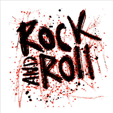 Rock music print, hipster vintage label, graphic design with grunge effect, tee print stamp. t-shirt lettering artwork