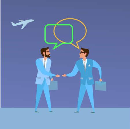 dealing: Cooperation. Concept business illustration. Businessmen negotiation. Handshake Business dealing