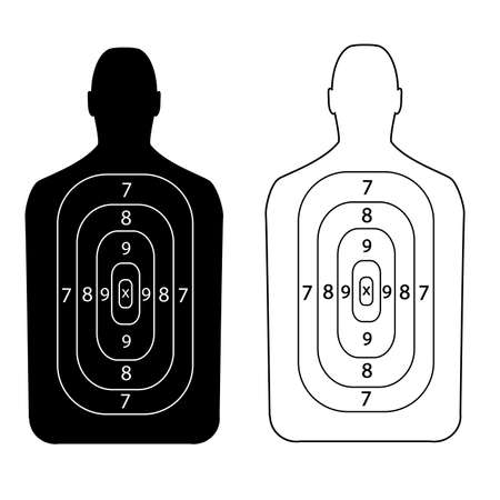 holster: Target shooting.Contour people.
