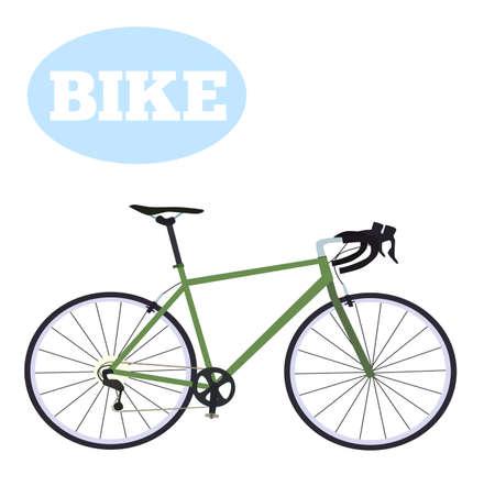 レース ロードバイク。フラット スタイルのベクトル図です。  イラスト・ベクター素材