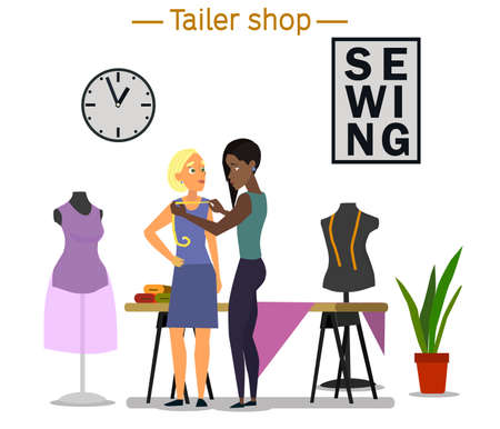 Hobby sewing as a small business concept