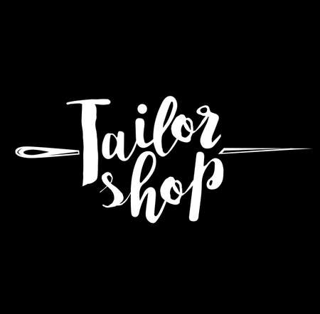 Vintage tailor labels, emblems and designed elements.