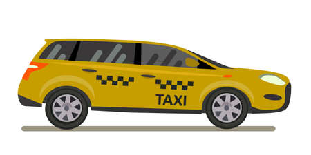 Taxi vector illustration in flat style.