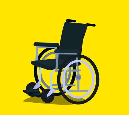 Wheelchair in the hospital vector flat material design object. Isolated illustration. Standard-Bild - 118097437