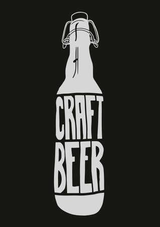 Vintage Style Craft Beer Sign. Ink stamp designs. Ilustração