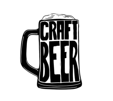 Vintage Style Craft Beer Sign. Ink stamp designs. Ink stamp designs. Ilustração