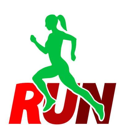 Run sport icon. Emblems for sport organizations, tournaments and marathons. Ilustração