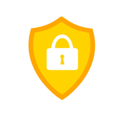 Shield sign. Protection icon. Protection emblem - security shield sign.