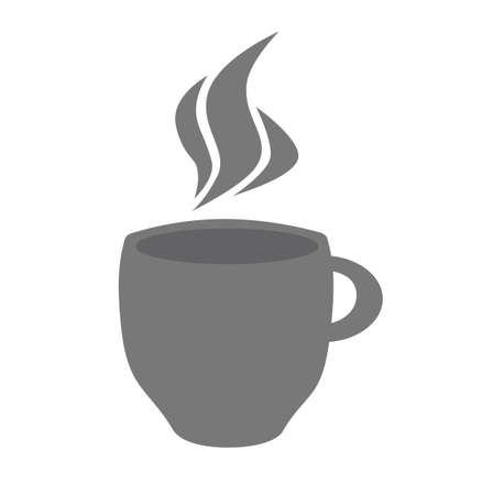 Hot drink cup icon. Cup of tea with steam glyph icon. Ilustração