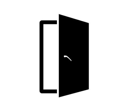 Door icon. Door . Vector illustration of a icon design. Ilustração