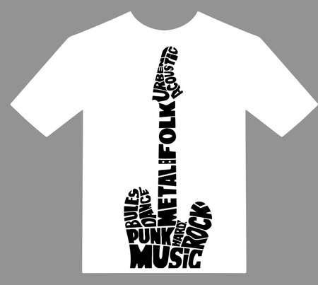 Rock music print, hipster vintage label, graphic design with grunge effect, tee print stamp. t-shirt lettering artwork Banco de Imagens - 128730163