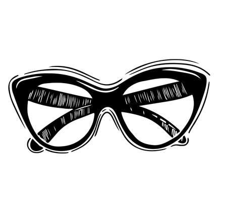 Modern fashion glasses.Vector hand drawn illustration.