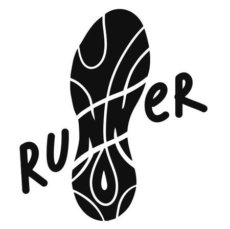 Runner- hand drawn inspiration quote. Calligraphic hand drawn lettering vector poster. For poster, banner, postcard, motivator or part of your design.