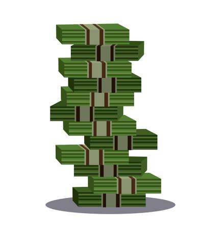 money stack . Vector illustration in cartoon style,