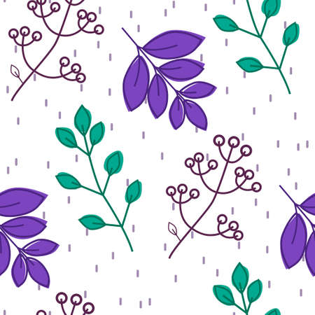 Seamless pattern with creative decorative flowers in scandinavian style. Great for fabric, textile.