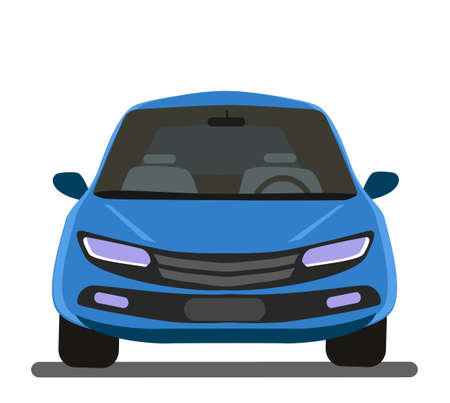 Vehicle for your project. Vector illustration in cartoon style
