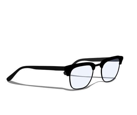 Modern glasses icons isolated on white background vector illustration of elegance glasses in black frame, glasses with lenses, glasses model