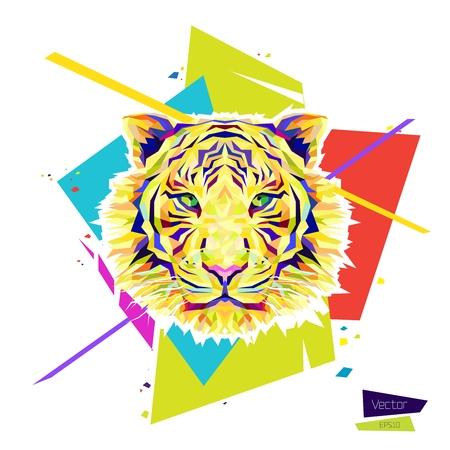 Color tiger head.