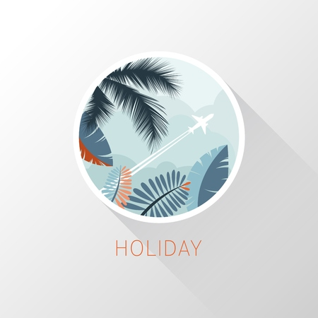 Plane icon. Tourism and travel. Vector illustration 向量圖像