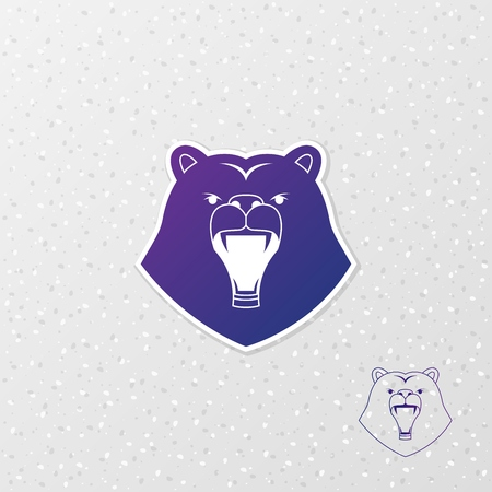 Abstract logo polar bear. Vector illustration EPS10. 向量圖像