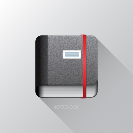 Realistic 3D notebook icon. Vector illustration EPS10 向量圖像