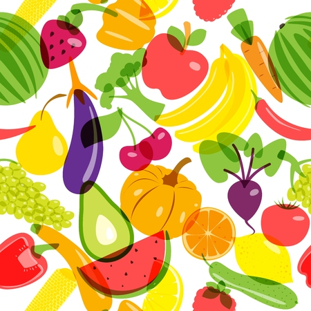 Seamless background vegetarian products. Vector illustration EPS10. 向量圖像