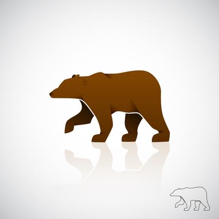 Abstract logo brown bear. Vector illustration EPS10.