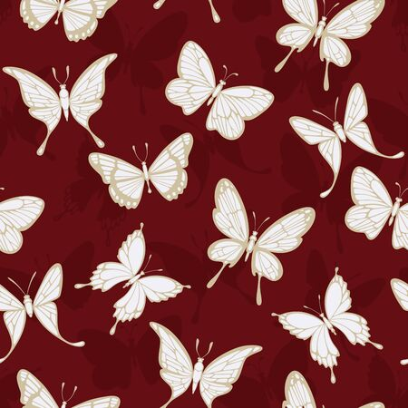 batterfly: Seamless patterns with butterflies. Vector illustration Illustration
