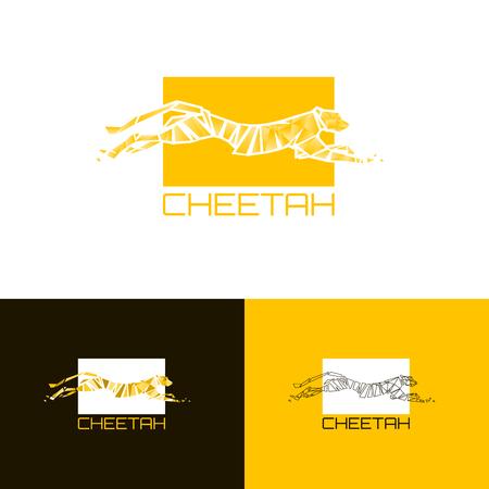 PrintStylized cheetah. Logo cheetah. Vector illustration EPS10