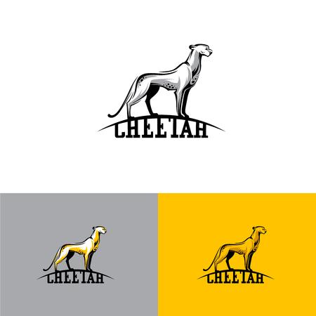 Logo cheetah. Vector illustratie EPS10 Stock Illustratie