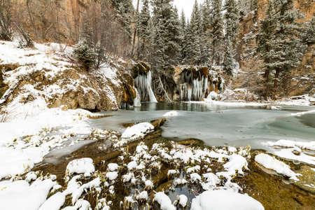 winter lake, pine trees, sunset, colorado, hidden lake, hiking