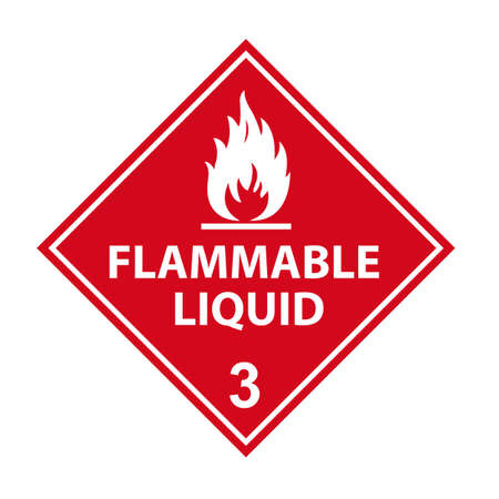fire danger sign flammable liquid