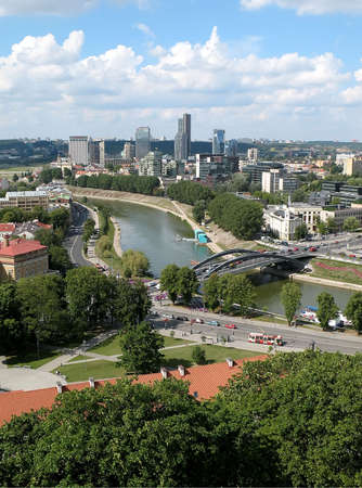 view of Vilnius - capital of Lithuania, from the Tower of Gediminas photo
