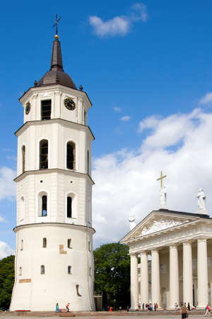 Vilnius Cathedral and Belfry Tower, the heart of Lithuanian capital photo